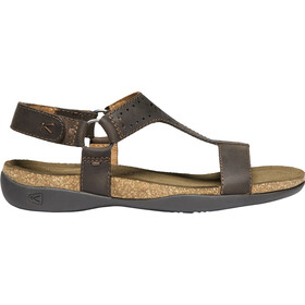 Keen Kaci Ana T-Strap Sandals Dam dark earth
